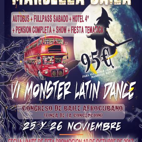 VI CONGRESO MONSTER LATIN DANCE (25 Y 26 Noviembre 2017)