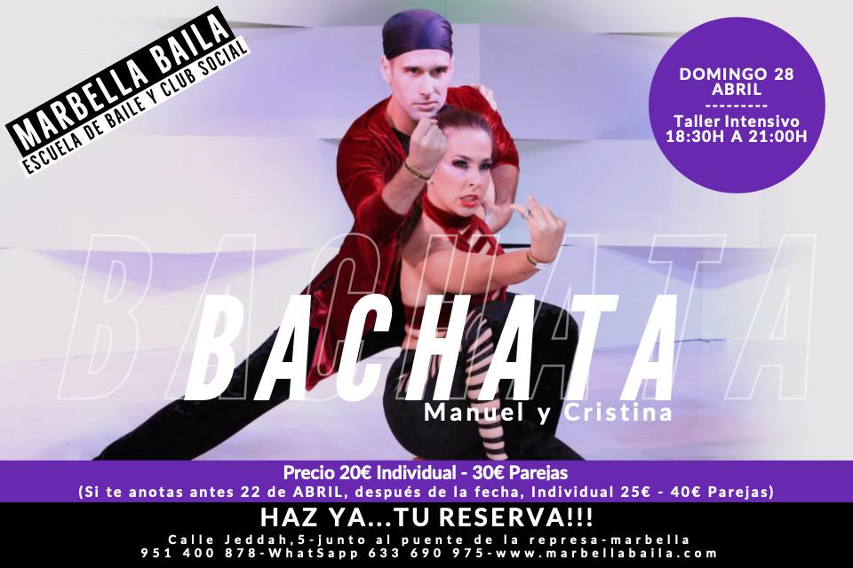 taller de bachata con Manu y Cristina