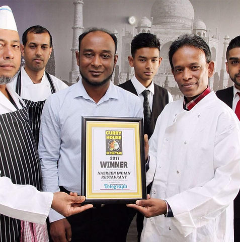 Nazreen award winning restaurant winner of curry house of the year 2017 staff and chefs photo.jpg