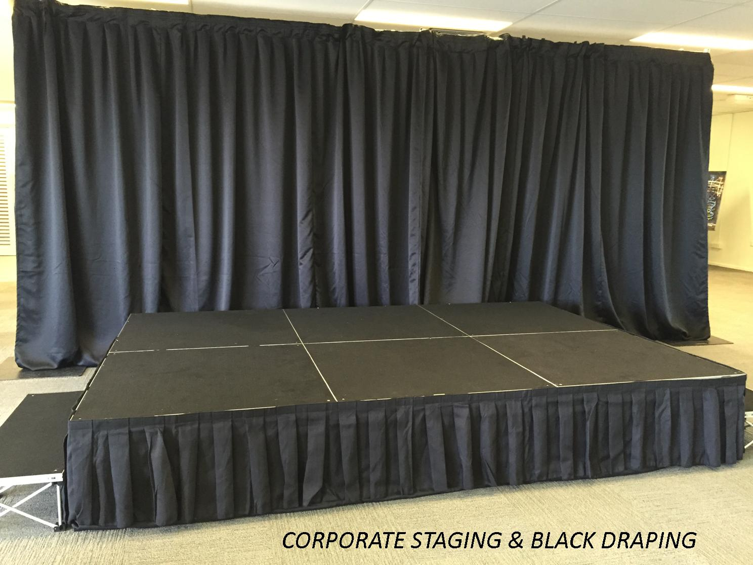 Corporate Stage & Drape