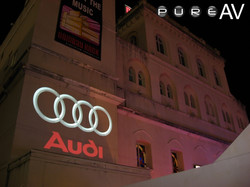 Colour outdoor projection