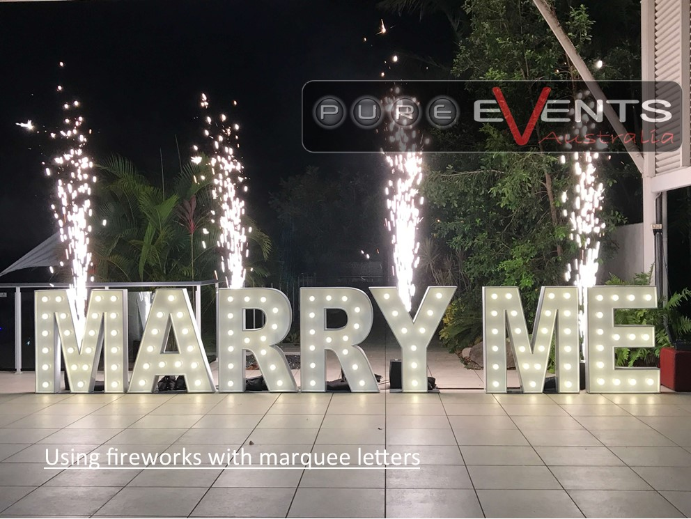 Marry Me Marquee Letters