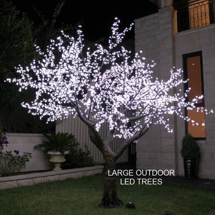 3.5mtr White Realistic Tree