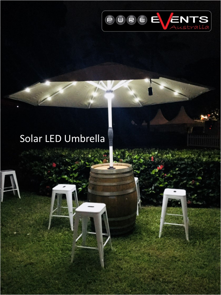 Solar Powered LED Umbrella