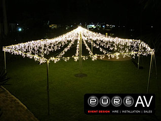 Hexagonal Open Air 12mtr x 12mtr & Fairy light canopies