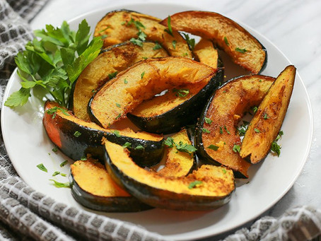 Roasted Acorn Squash with Turmeric