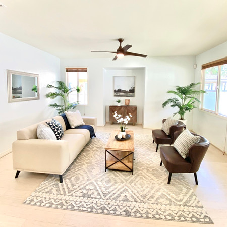 Staged Living Room in Ewa Beach