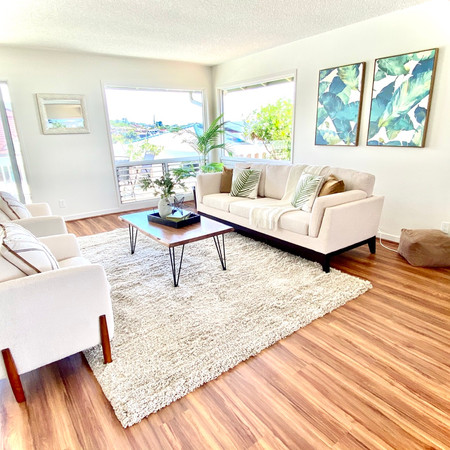 Staged Living Room in Aiea