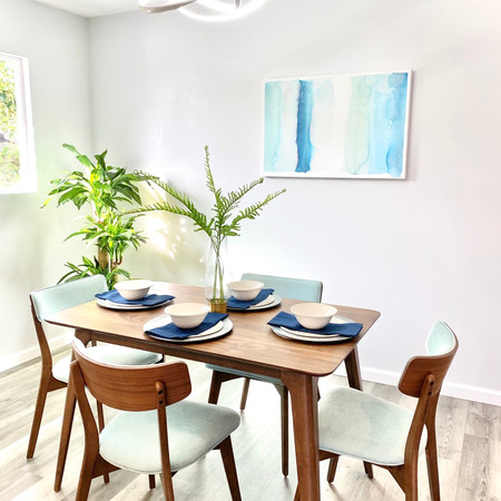 Staged Dining Room in Honolulu