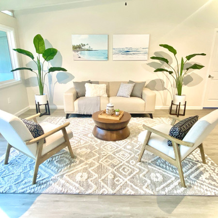 Staged Living Room in Kailua