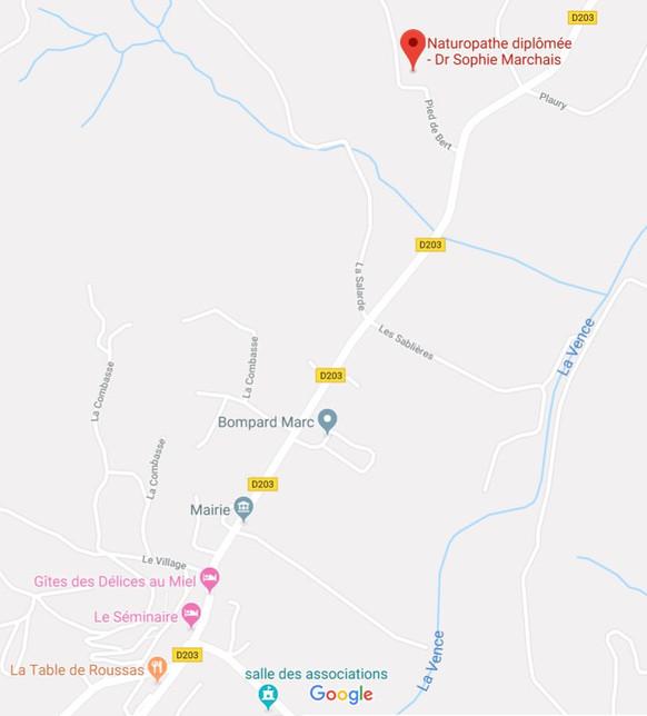 plan accès cabinet Dr Sophie Marchais