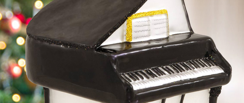 Limited Edition Signed Jim McDonough Grand Piano Ornament