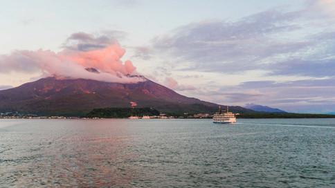 Pink volcano