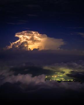 Storm from Mt Fuji