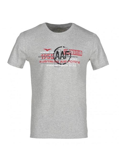 AUSTRIAN AIR FORCE® TYPOPRINT T-SHIRT GRAU