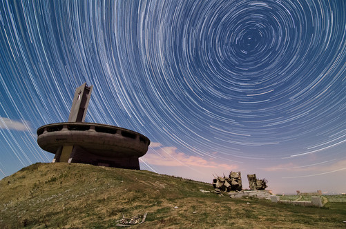Buzludzha Star Trails, Bulgaria