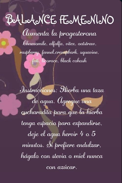BALANCE FEMENINO #2 ( aumenta la progesterona)