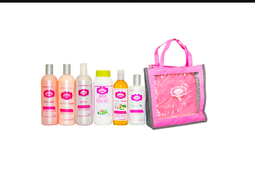HAIR PLUS KIT (shamp,cond,suero,jalea,oil,leavin)