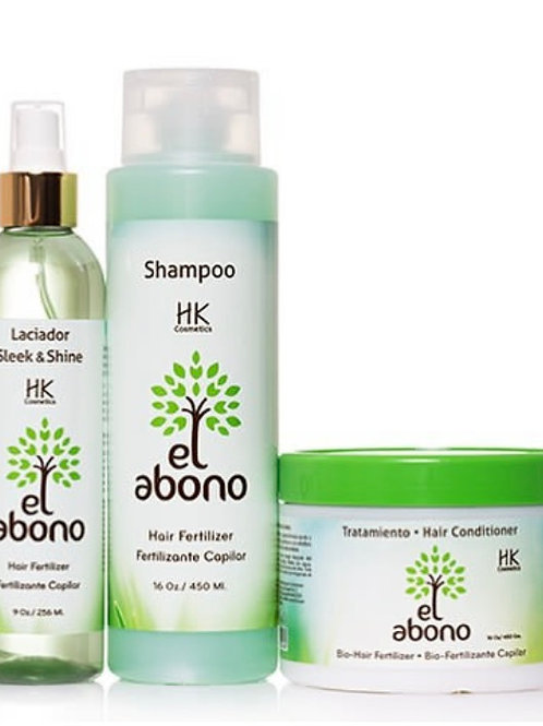 KIT ABONO ( laciador  , shampoo,tratamiento 8oz)