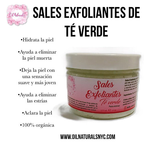 SALES EXFOLIANTES DE TÉ VERDE