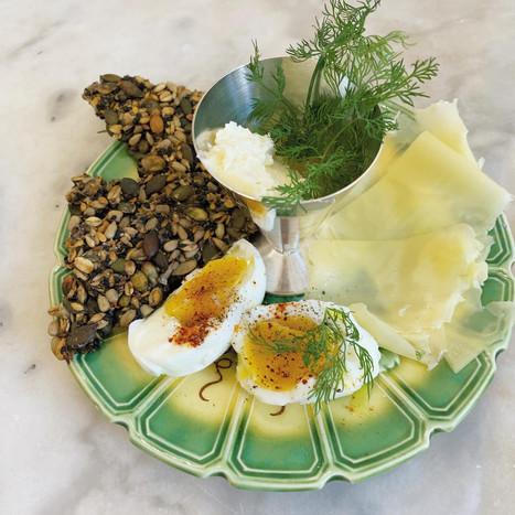 Comté, eggs and butter