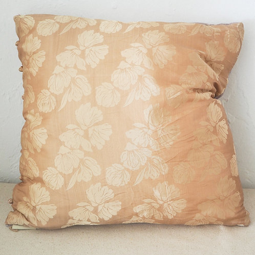 Silk and velour pillow