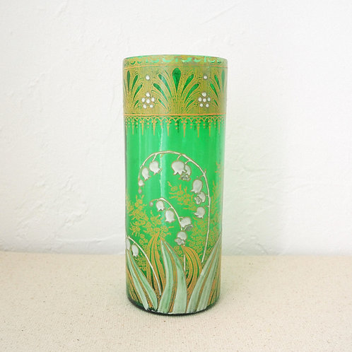 1920s Green Vase