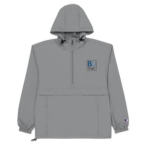 BU@NMC Gray Embroidered Packable Jacket