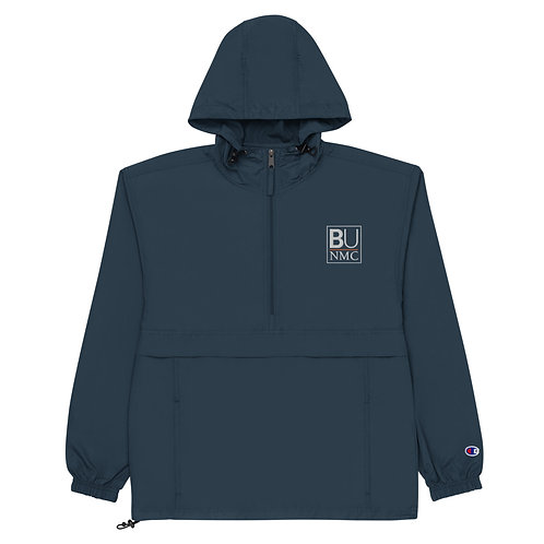 BU@NMC Navy Blue Embroidered Packable Jacket