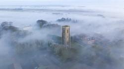 Southrepps_Fog_BlueSkyUAV