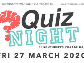 ** CANCELLED ** Quiz Night - Friday 27 March 2020