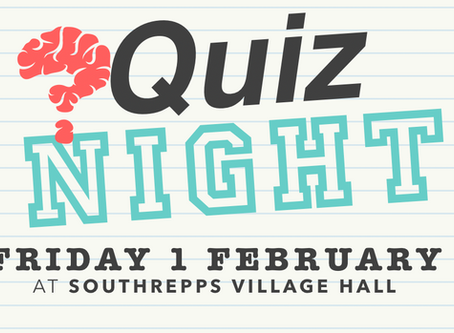 Quiz Night - Friday 29th March 2019