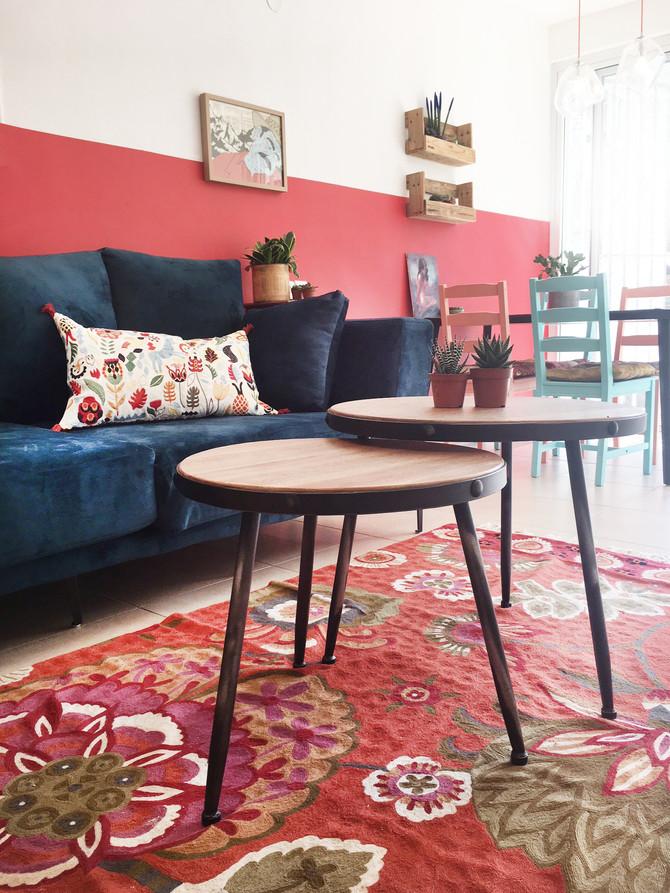 עושים בית: מהפך צבעוני במיוחד בבית שכור