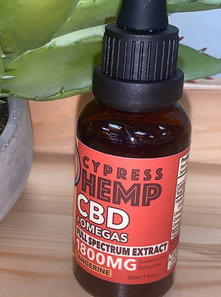 Full Spectrum 1800 mg Omega Drops - Cypress Hemp