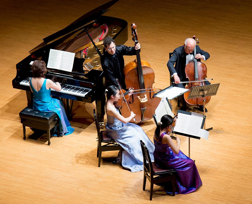 エル・システマ・フェスティバル2017でのシューベルトピアノ五重奏曲ますの演奏の様子