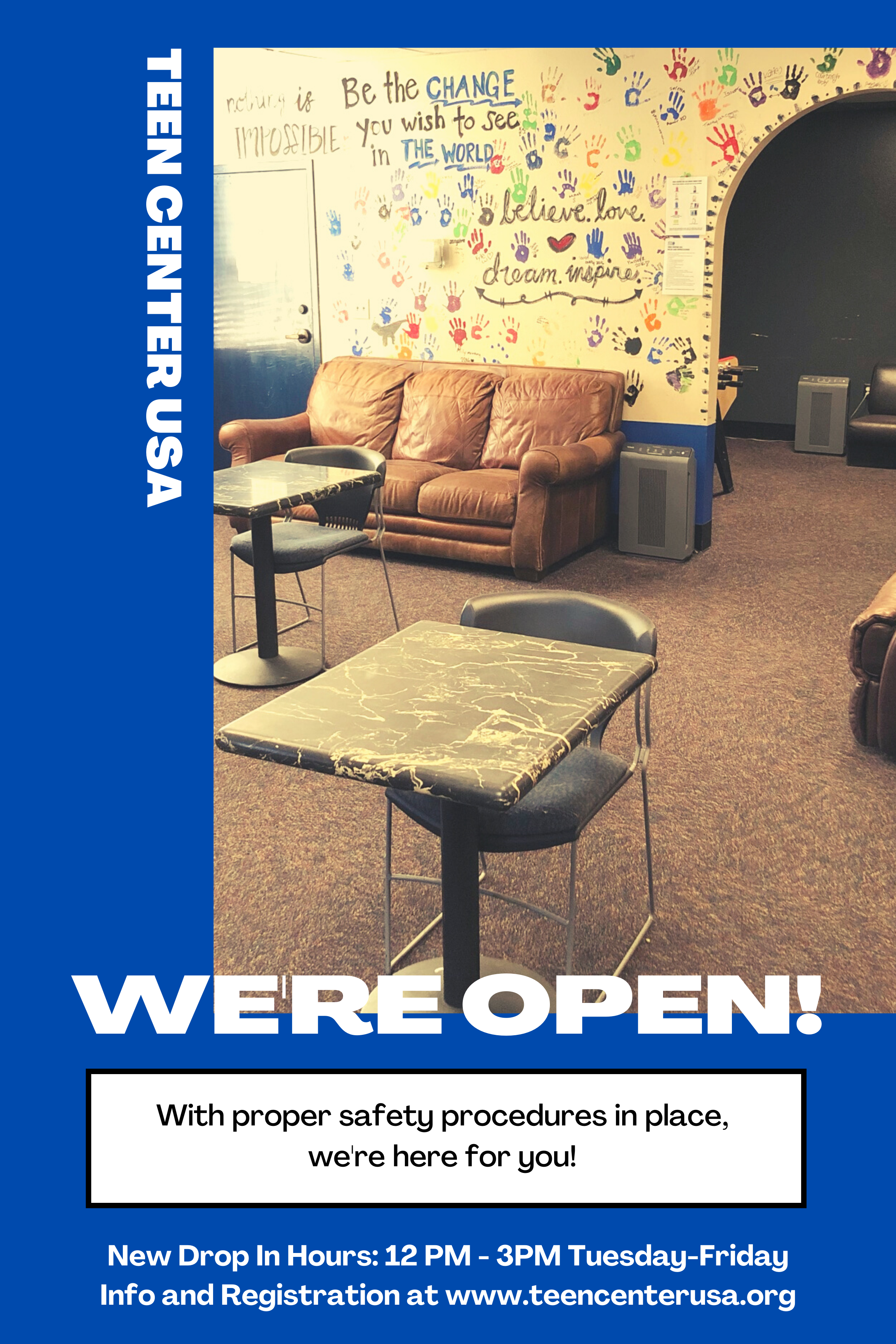 New Teen Center Drop In Hours!