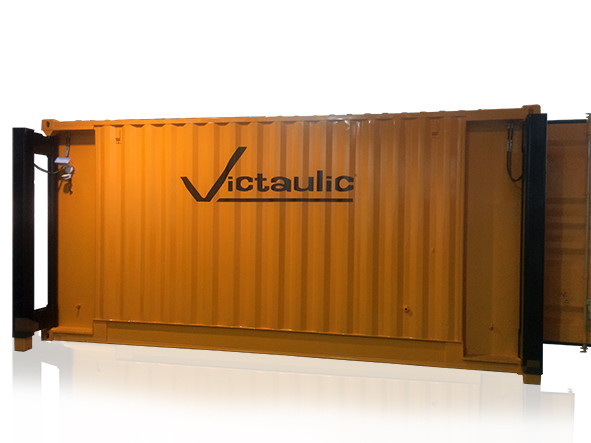 Congratulations Victaulic on your new SLD-6  . Custom corporate colours with vinyl logo.