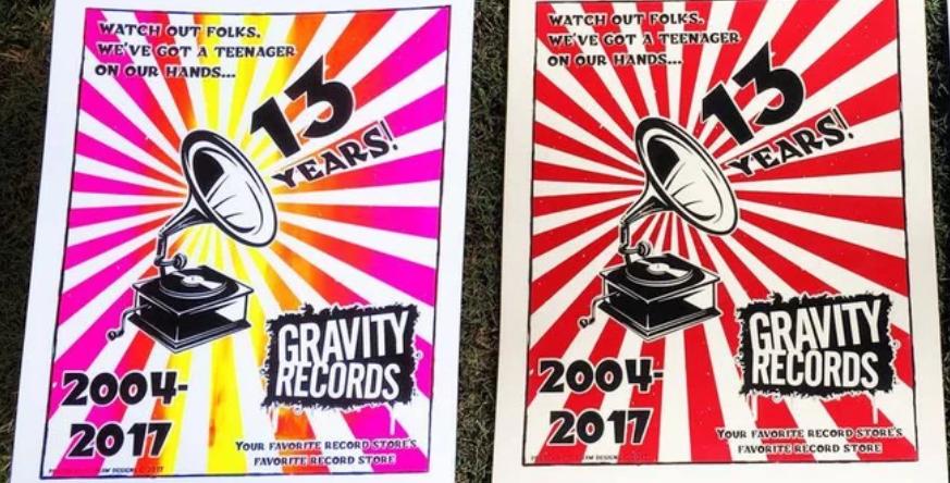 GRAVITY RECORDS' 13TH BIRTHDAY