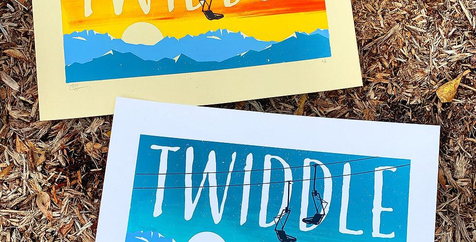 TWIDDLE - ART PRINT (BOTH COLORWAYS)