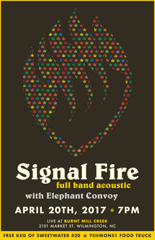 11x17 promo poster for Signal Fire, 2017