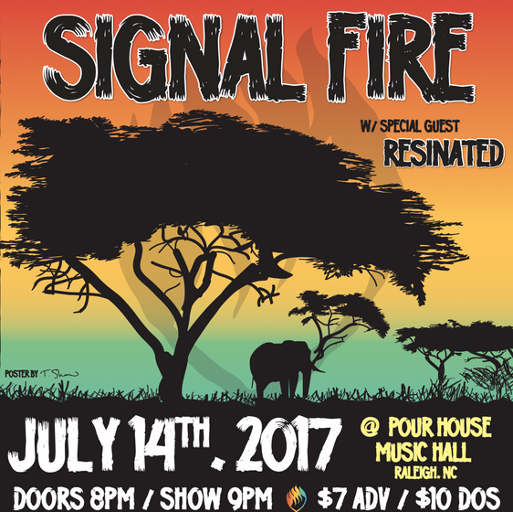 Promo graphic for Signal Fire, 2017