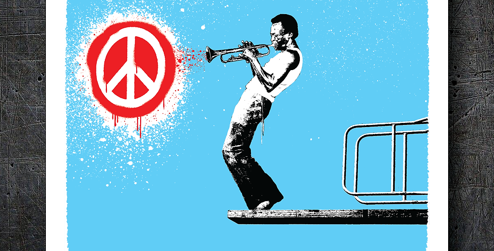 """JAZZ PEACE"" VINYL STICKER"