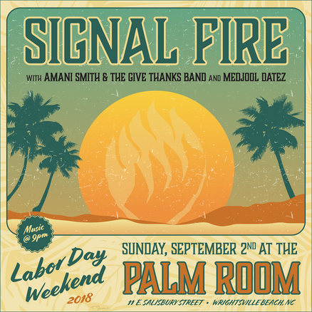 Announcement graphic for Signal Fire, 2018