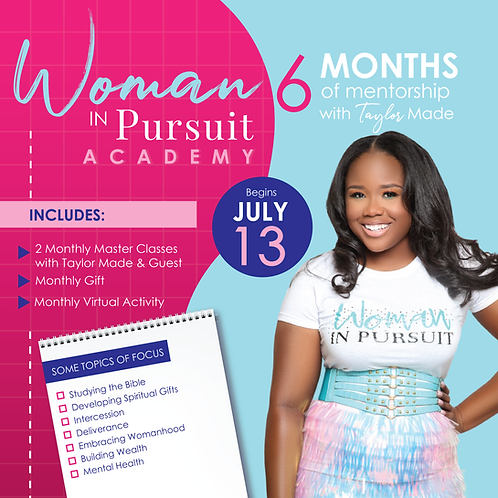 Woman In Pursuit Academy (Monthly Deposit)
