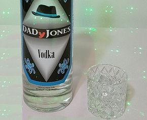DADyJones vodka bottle and glass