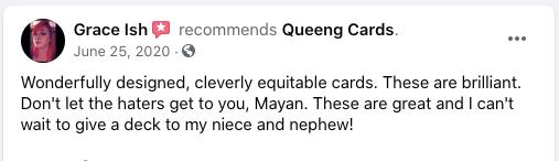 queeng cards feedback