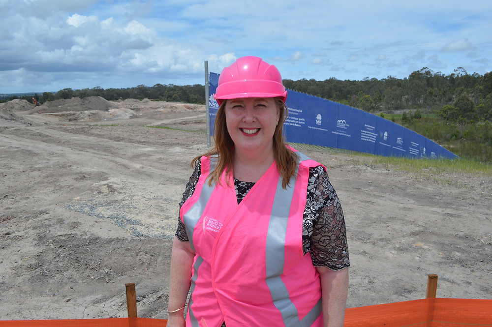 Jenny Aitchison MP last November at the New hospital site