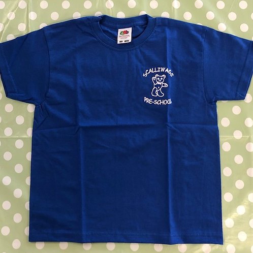 BLUE T-SHIRTS WITH LOGO