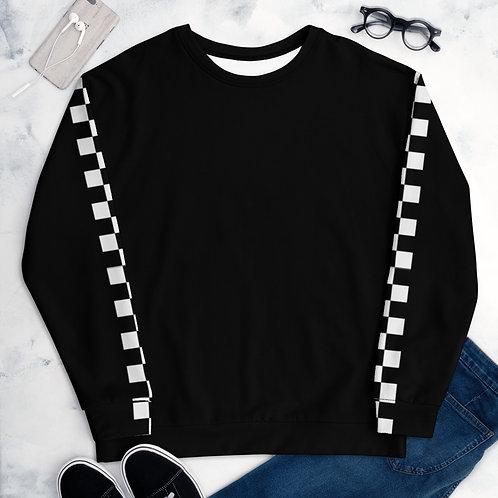Check Sleeve Sweatshirt