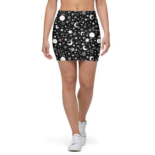 Moon Print Skirt